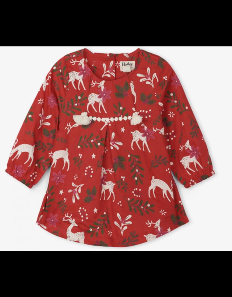 Hatley Mistletoe Deer Baby Dress