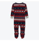 Hatley Fair Isle Stags Organic Cotton Footed Coverall