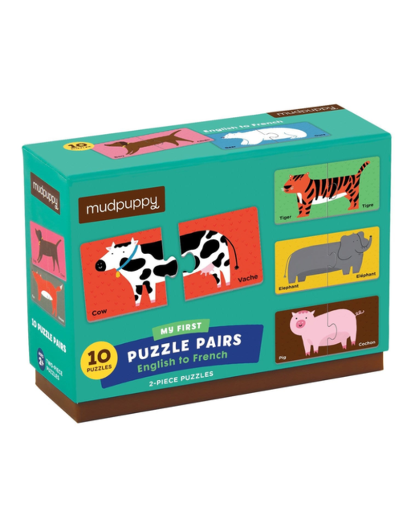 Mudpuppy English to French Puzzle Pairs