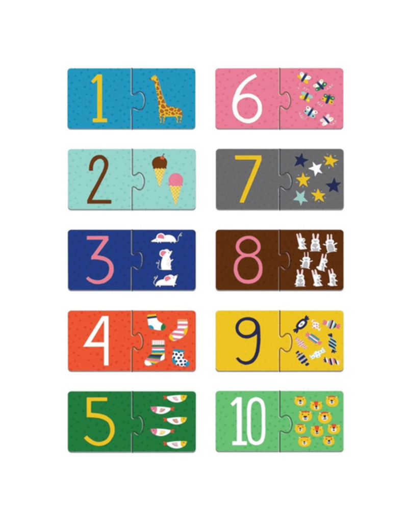 Mudpuppy Counting 1-10 My First Puzzle Pairs, 2y+