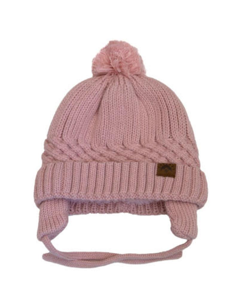 Pink Cotton Knit Winter Hat