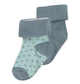Noppies Basics Star Socks 2pk - Dark Green