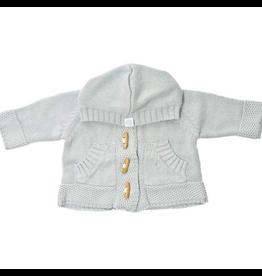 Beba Bean Baby Blue Knit Hoodie