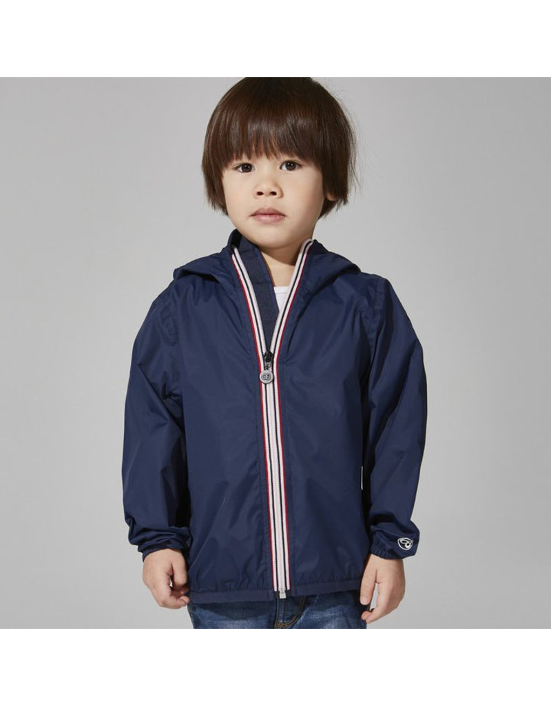 Navy Packable Rain Jacket