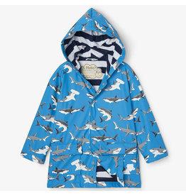 Hatley Deep-Sea Sharks Colour Changing Raincoat