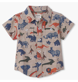 Hatley Jungle Safari Toddler Button Shirt