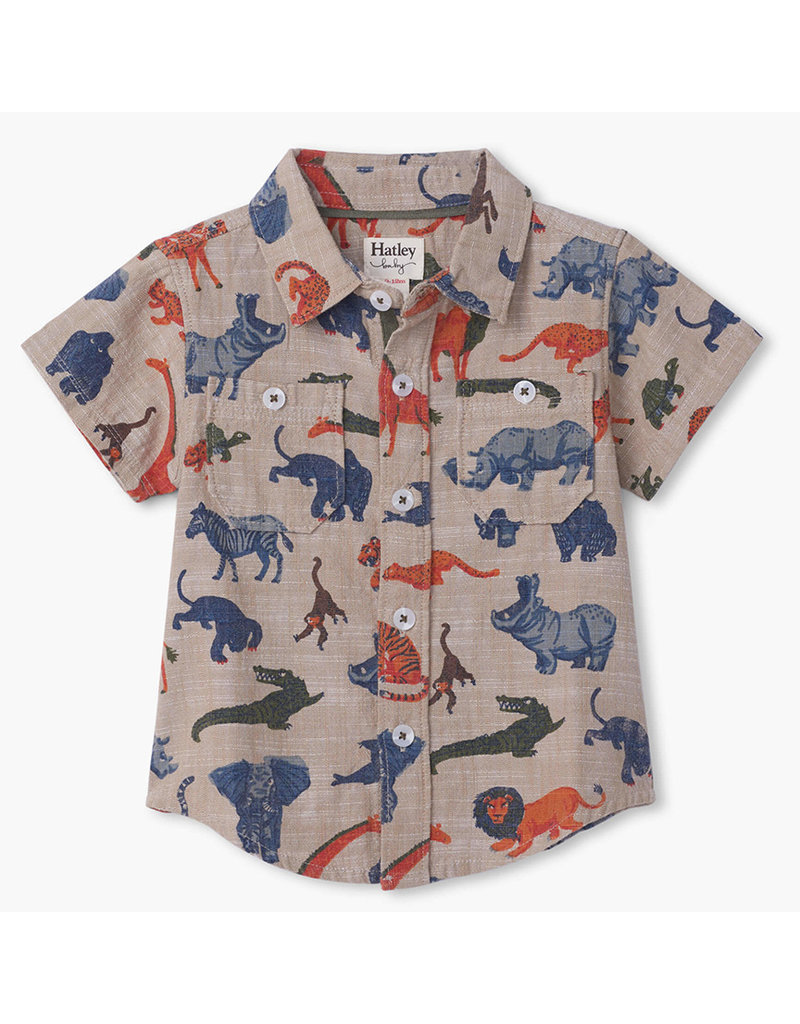 Hatley Jungle Safari Button Shirt -Multi