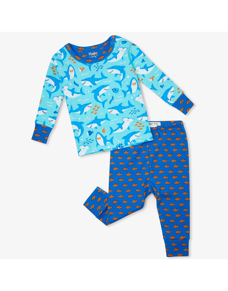 Hatley Shark Party Organic Baby PJs