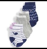 Girl's Sock 3pk - Whales