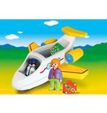 Playmobil 1.2.3. Plane with Passenger