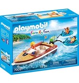 Playmobil Speedboat with Tube Riders