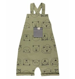 Turtledove London Cub Faces Shortie Dungarees