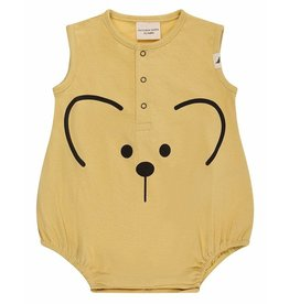Turtledove London Mouse Face Bubble Romper - Sunshine