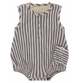 Turtledove London Stripe Reversible Bubble Romper