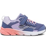 Saucony Blue/Coral Windshield Jr Sneakers