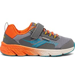Saucony Grey Windshield Jr Sneakers