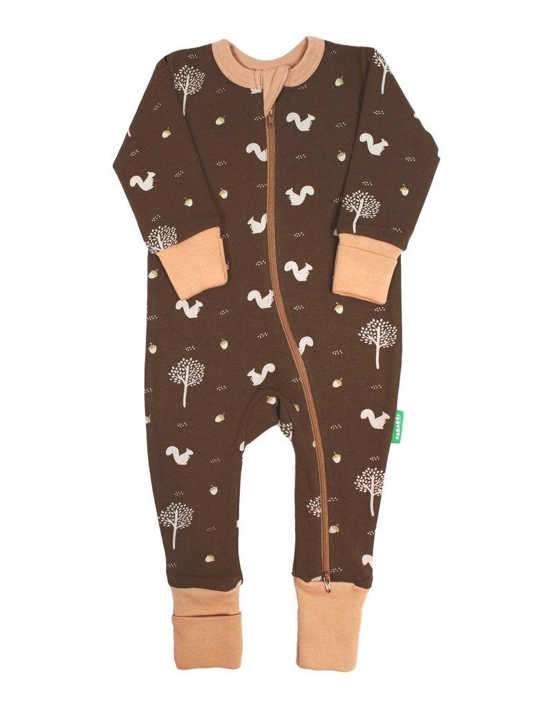Chocolate Squirrels  2-Way Zip Sleeper