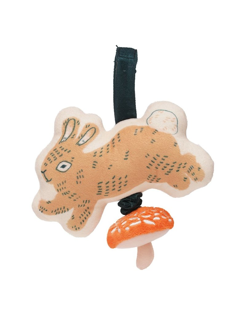 Manhattan Toys Button Bunny Pull Musical Take Along Toy