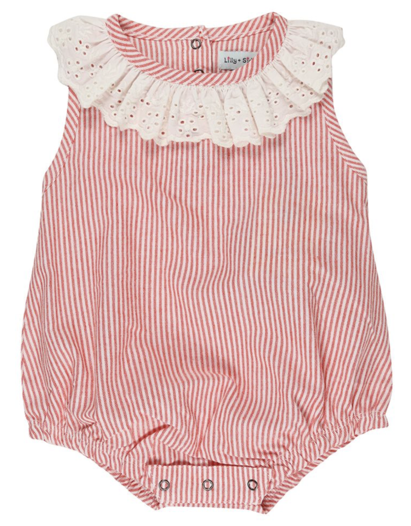 Striped Frilly Romper