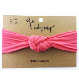 Baby Wisp Turban Knot Headband, Coral, 3m+