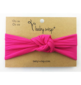 Baby Wisp Turban Knot Headband, Dark Pink, 3m+