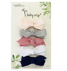 Baby Wisp Chelsea Bows Snap Clip Baby Hype 5pk