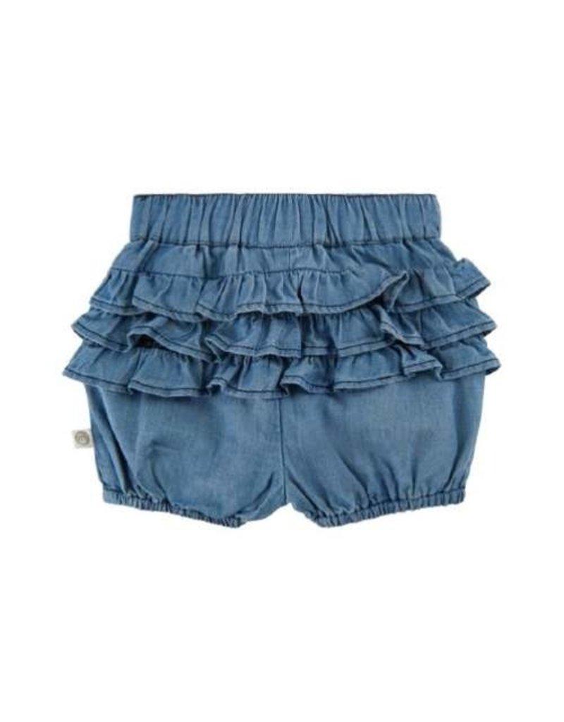 Denim Baby Ruffle Shorts