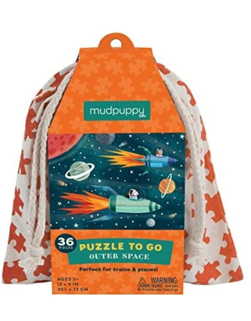 Mudpuppy Outer Space Puzzle To Go, 3y+