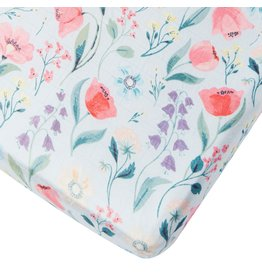 Loulou Lollipop Bluebells Fitted Crib Sheet