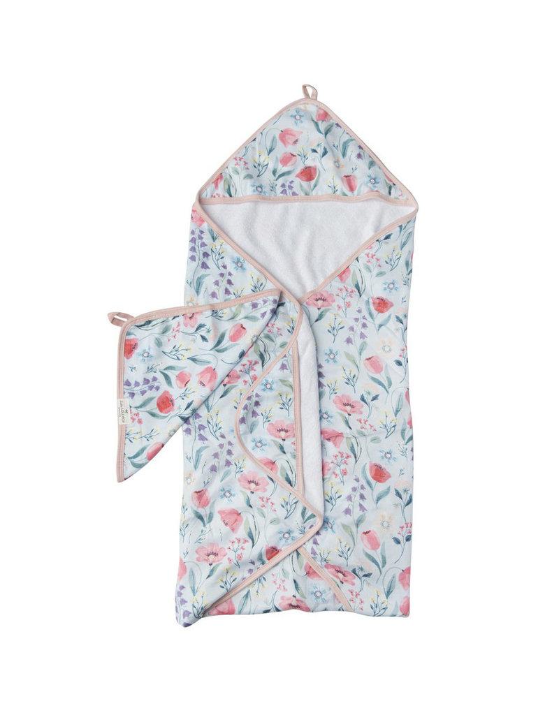 Loulou Lollipop Bluebells Hooded Towel & Cloth