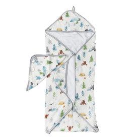 Loulou Lollipop Adventure Begins Hooded Towel & Cloth