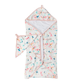 Loulou Lollipop Butterfly Hooded Towel & Cloth