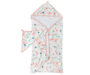 Butterfly Hooded Towel & Cloth