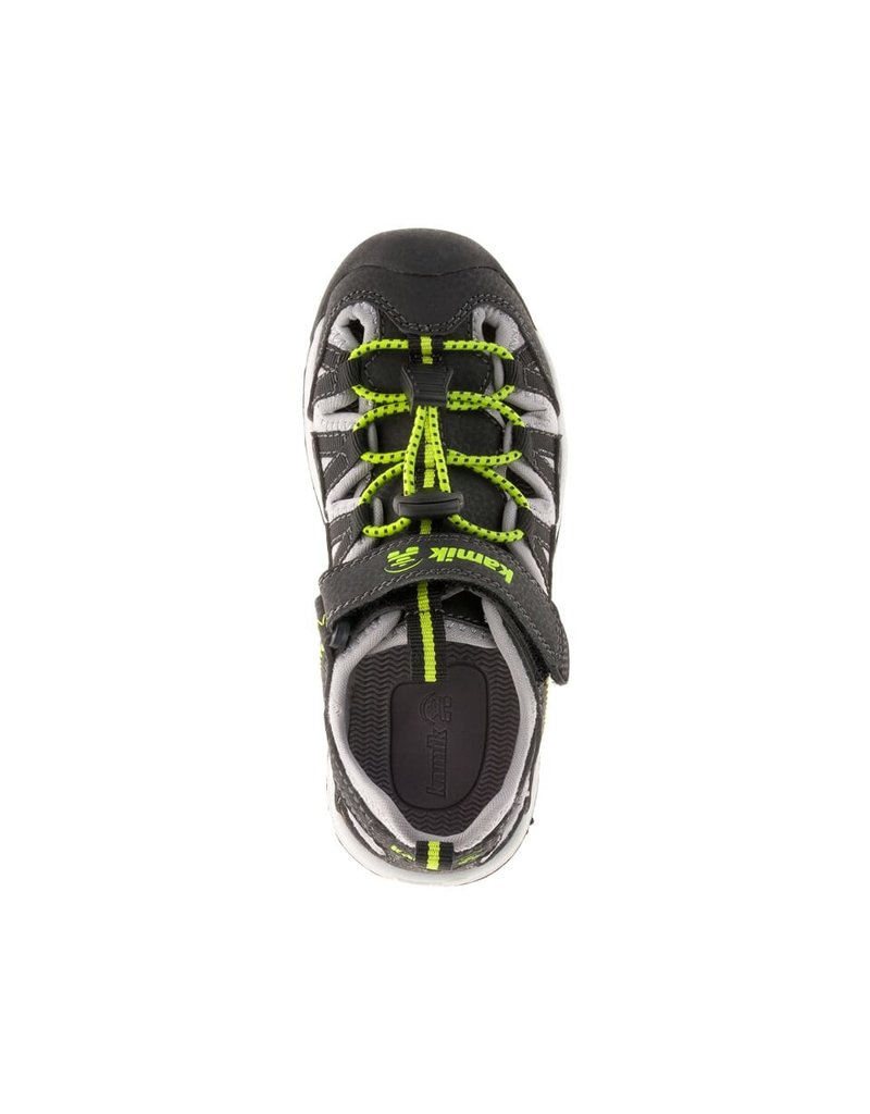 Kamik Black/Lime Wildcat Sandals
