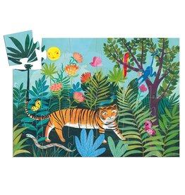 Djeco Silhouette Puzzle - The Tiger's Walk - 24pcs