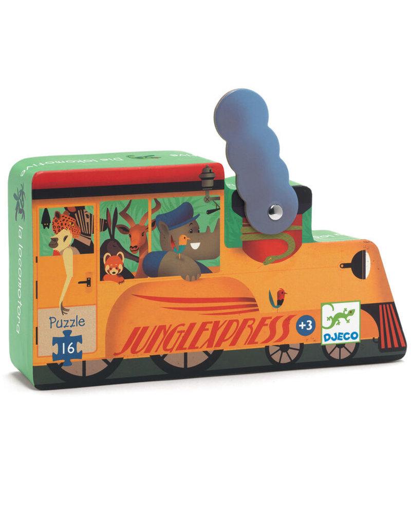 Djeco Silhouette Puzzle - The Locomotive - 16pcs