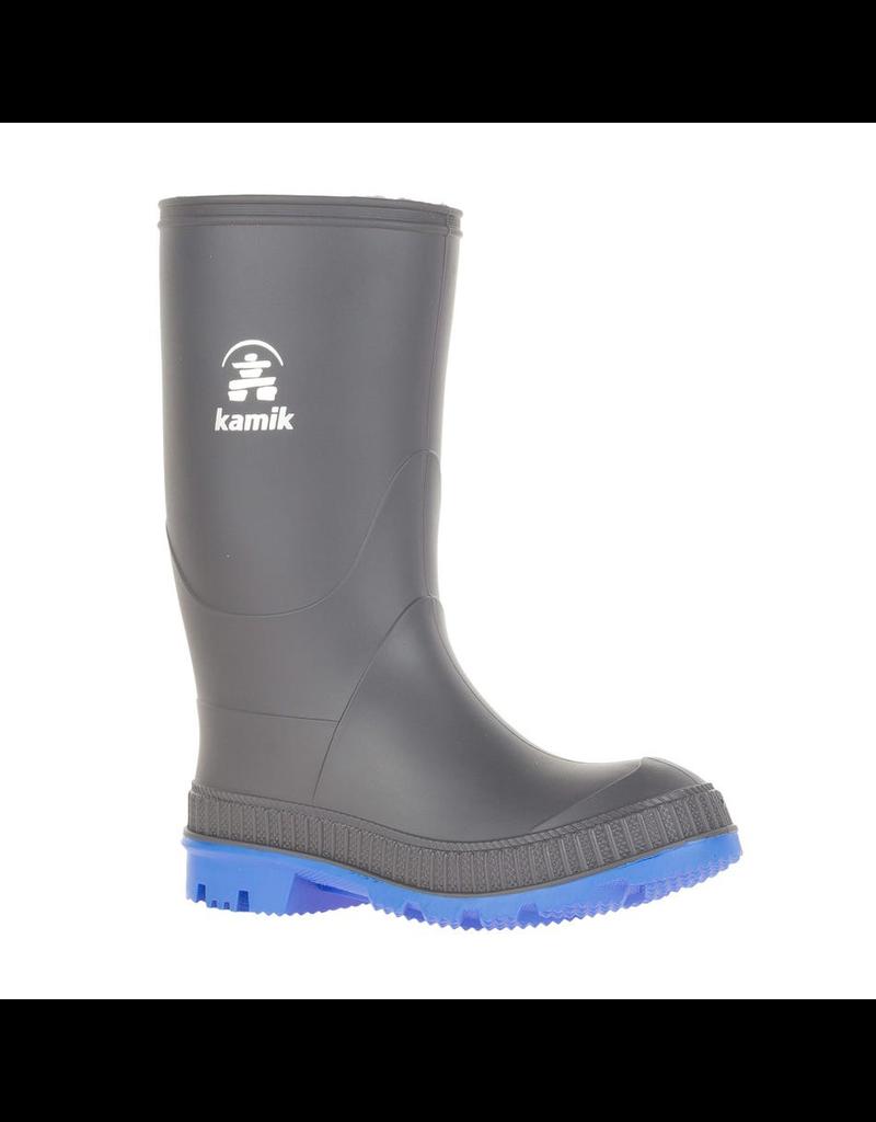 Kamik Charcoal/Blue Stomp Rain Boots