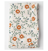 Loulou Lollipop Stretch Knit Blanket in TENCEL™ - Flower Vine