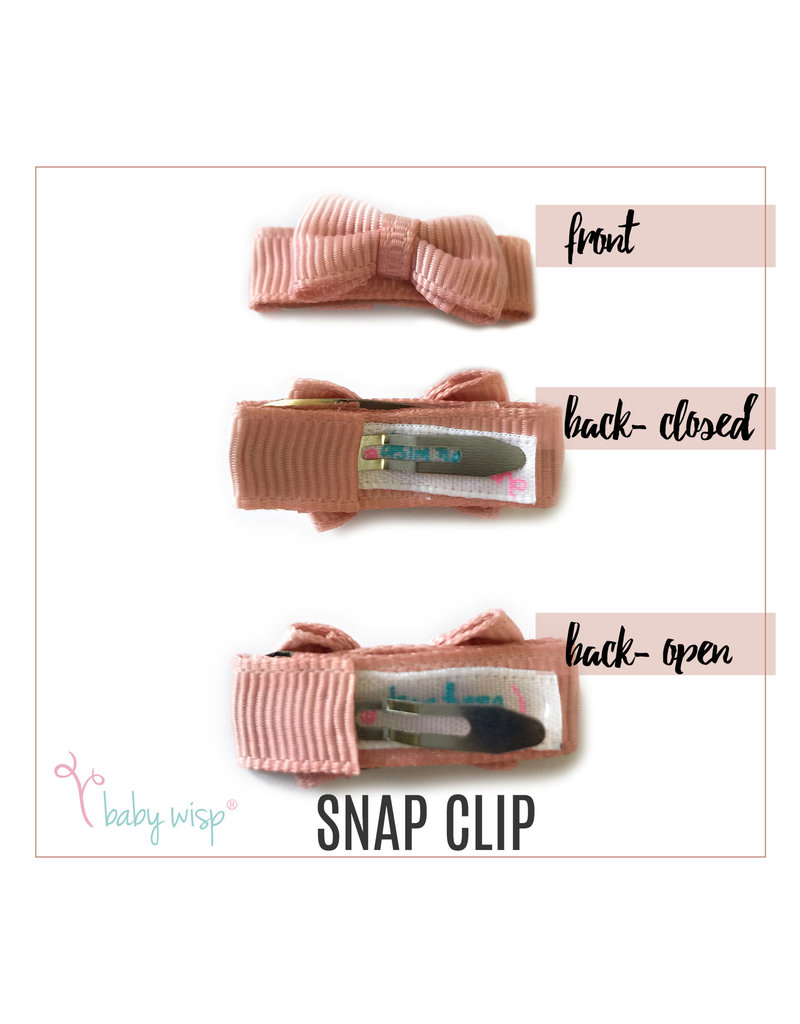 Baby Wisp Tuxedo Bow Snap Clips 10pk - Coral Kingdom