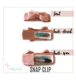 Baby Wisp Chelsea Bow Snap Clips 10pk - Coral Sunrise