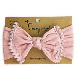 Baby Wisp Pom Pom Headband, Dusty Rose, 0-2y