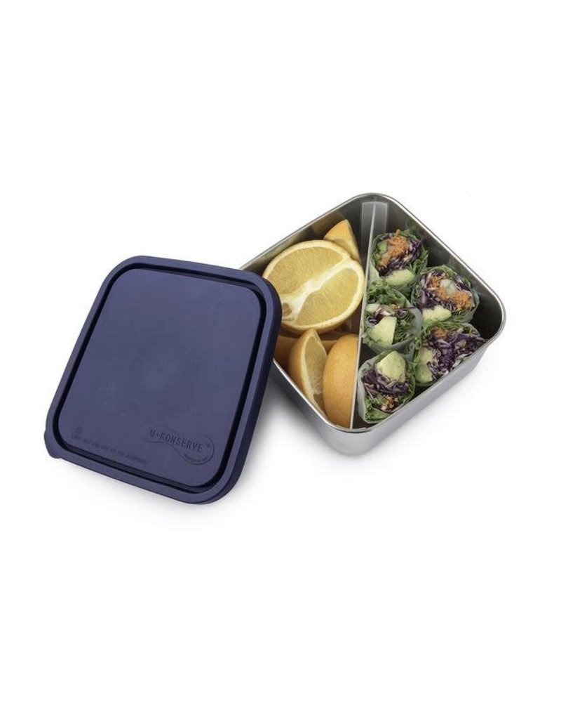 Kids Konserve Divided Large To-Go Stainless Steel Container, Ocean, 50oz