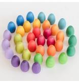 Grapat Wood Mandala Coloured Eggs 36pcs