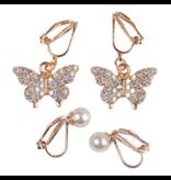 Great Pretenders Butterfly Clip On Earrings, 2 Sets