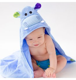 Zoocchini Baby Henry Hippo Hooded Towel