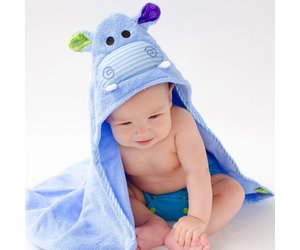Baby Henry Hippo Hooded Towel