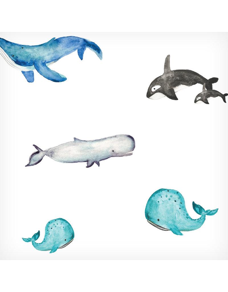Lulujo Deluxe Muslin Quilt - Whales
