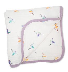 Lulujo Deluxe Muslin Quilt - Hummingbird