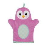 Zoocchini Baby Snow Terry Bath Mitt - Penny Penguin
