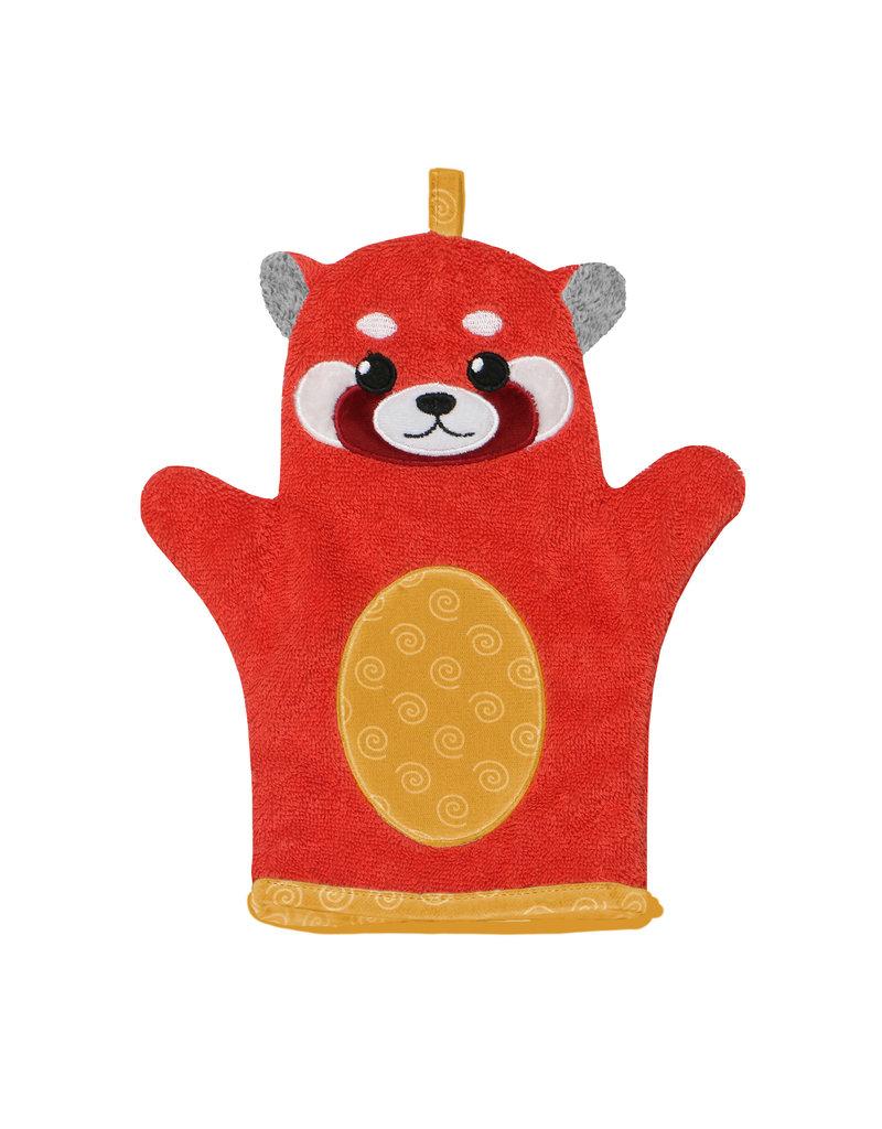 Zoocchini Baby Snow Terry Bath Mitt - Remi Red Panda